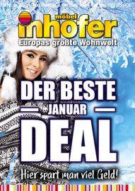 Aktueller Möbel Inhofer Prospekt, DER BESTE JANUAR DEAL - Hier spart man viel Geld!, Seite 1