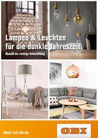 Aktueller OBI Prospekt, Lampen & Leuchten für die dunkle Jahreszeit, Seite 1